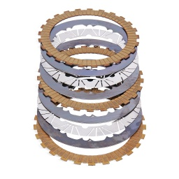 [22310-XGF-0005] Kevlar clutch friction discs Kit, OCP WORKS (Oil Cooler Plates PATENTED System)
